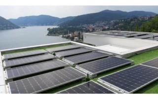 fotovoltaico a cernobbio tetto piano