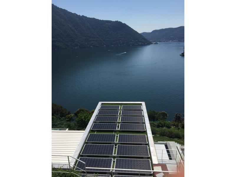 fotovoltaico a cernobbio a picco sul lago