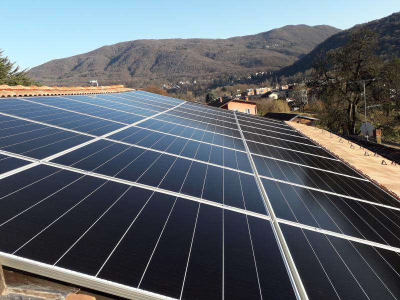 impianto fotovoltaico cunardo varese solaredge viessmann